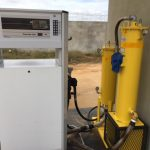 Angola on kerbside pump